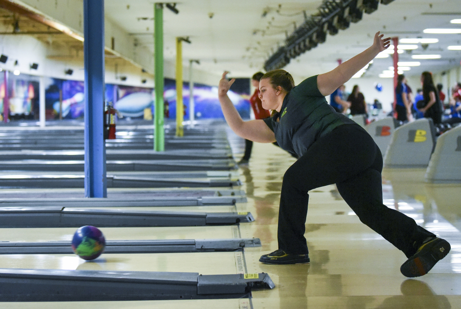 Evergreen senior Kerissa Andersen, a state champion in 2016, is one of the top bowlers in Clark Coun